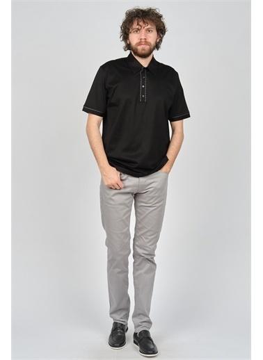 Arslanlı Arslanlı Erkek Şerit Detaylı Polo Yaka T-Shirt  Siyah